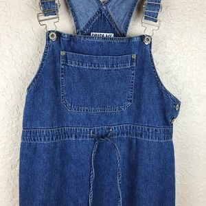 Bill Blass overall denim dress